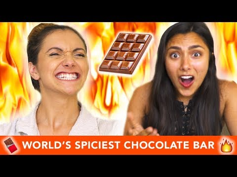 TRYING THE WORLD'S SPICIEST CHOCOLATE BAR 🔥🍫 (with Alyson Stoner)