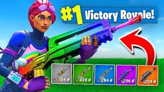 The *RAINBOW* BURST ONLY Challenge In Fortnite Battle Royale!