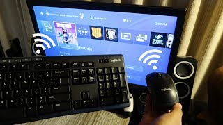 How to CONNECT WIRELESS Keyboard and Mouse to your PS4 (EASY METHOD)