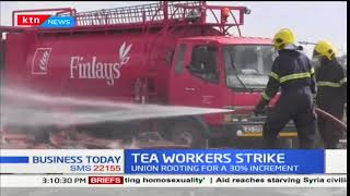 Angry tea pluckers in Kericho down tools demanding wages