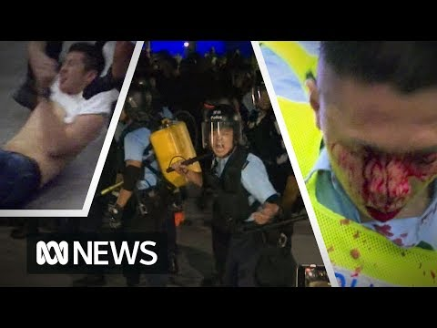 Hong Kong protests over extradition law turn ugly as riot police clash with demonstrators