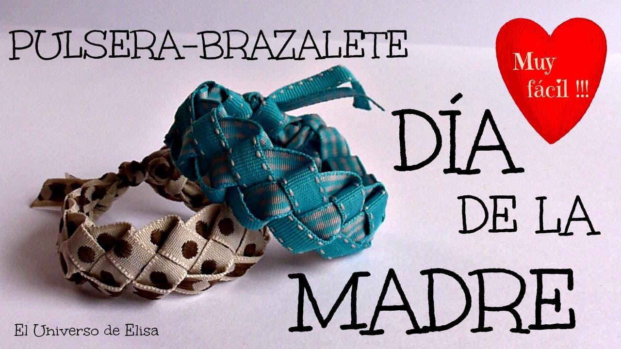 Regalos para el Día de la Madre, Pulsera Brazalete de Cintas, Manualidades para el Día de la Madre