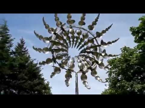 art installation kinetic sculpture spine wheel by anthony howe