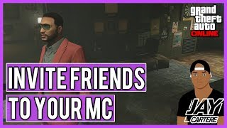 GTA Online - How To Invite Friends To Your MC / Biker Club / Motorcycle Club