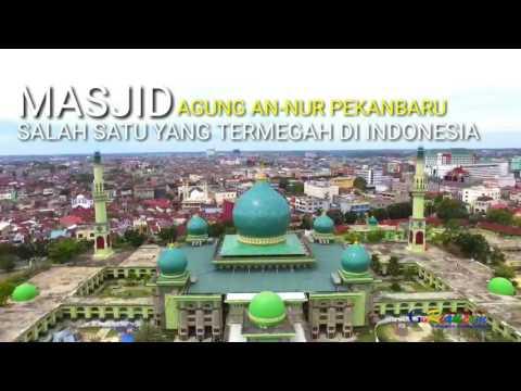 Video: Megahnya Bangunan Masjid Agung An-Nur Pekanbaru dari Udara