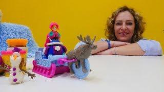 PlayDoh Knetspaß - Frozen Anna und Elsa - Spielzeugvideo für Kinder