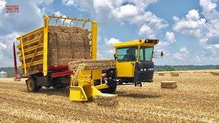 Harvesting Straw Bales New Holland H9870 Stack Cruiser