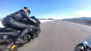 preview picture of video 'Zx6r vs zx101 Greek couple having fun'