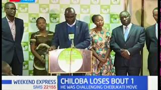 Ezra Chiloba has lost a bid to temporarily lift his suspension from the IEBC