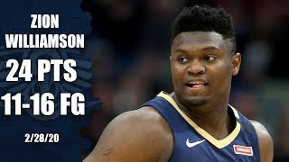 Zion's impressive rookie season continues in Pelicans vs. Cavaliers   2019-20 NBA Highlights