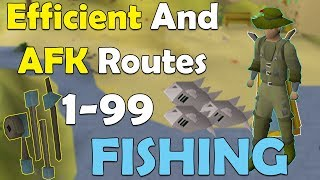 [OSRS] 1-99 Complete Fishing Guide | AFK + Efficient Routes P2P/F2P