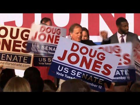 Alabama Senate hopeful Jones holds final rally before election day