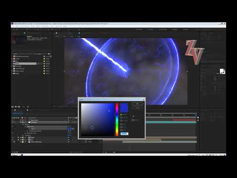 Молния с логотипом Автор эффект Small Energy Intro Edit for After Effects tutorial (no plug-ins!)