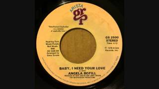 ANGELA BOFILL  BABY, I NEED YOUR LOVE
