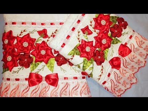 Flor para aplicar em toalha