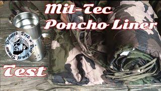 Mil-Tec Poncho Liner Allzweckdecke Test, Outdoor Steppdecke, warme Winterdecke, Underkilt Test Fazit