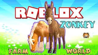 ROBLOX FARM WORLD ZONKEY & ZORSE! 🦓 ZEBRA Zebroid Gamepass! I CAN MAKE TREES!