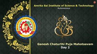 Ganesh Chaturthi Puja in Amrita Sai College - Day 2