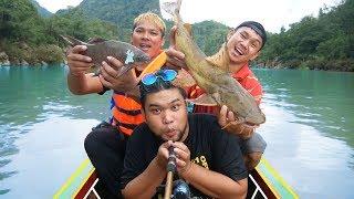เอาตัวรอด 1 วันในน้ำหาตกปลายักษ์ ในหน้าฝนที่อันตราย...My Mesuan | CLASSICNU