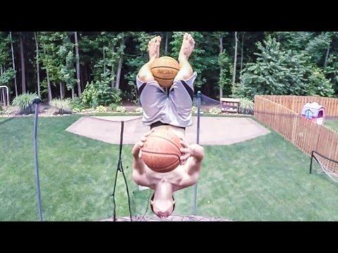 Απίστευτο καλάθι με δύο μπάλες του μπάσκετ!