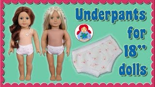 DIY | Underpants For 18 Dolls (American Girl, Sami Pattern AMELIE Etc.) • Sami Doll Tutorials