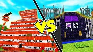 CASA DI TNT VS CASA BUNKER - Case Pazze su Minecraft