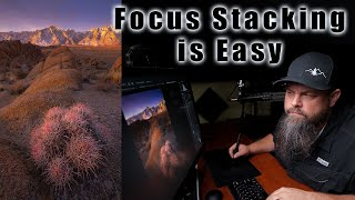 How to Focus Stack in Photoshop // Tutorial