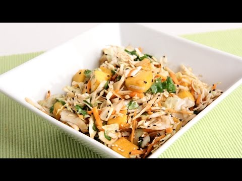 Asian Inspired Mango Slaw Recipe – Laura Vitale – Laura in the Kitchen Episode 950