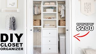 DIY Built-in Closet Organizer