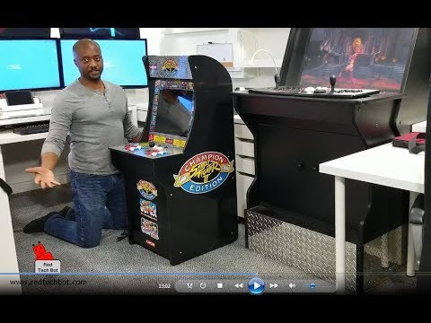 1UP Arcade Cabinet Video Review - Street Fighter (2018)