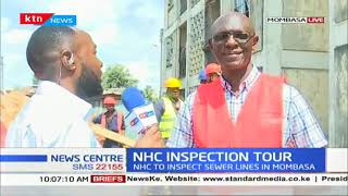 National Housing Corporation inspecting sewer lines in Mombasa