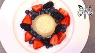 Panna Cotta with Summer Berries ❤️ Perfect Valentines Dessert