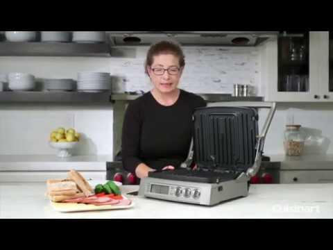 , Cuisinart GR-300WS Griddler Elite Grill, Stainless Steel