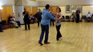 Central Jersey Dance Society No Name dance Hustle lesson with Tybaldt Ulrich 9 16 17