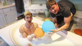 Worlds BIGGEST Nerf Bath Bomb! Bathtub Challenge