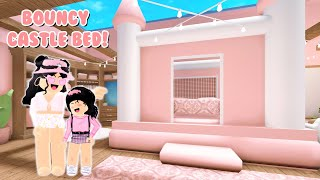 Decorating A Kids NEW Bedroom *Bouncy Castle Bed* In Bloxburg! (Roblox)