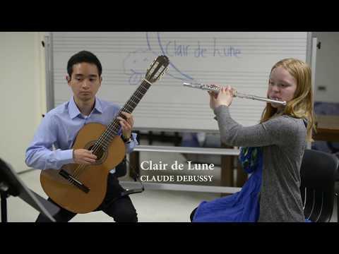 Clair de Lune for Flute and Guitar