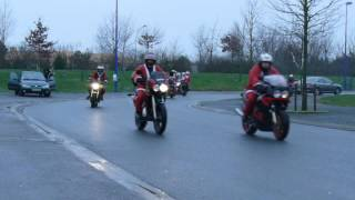 preview picture of video 'ballade des peres noel moto 2012 la roche sur yon'