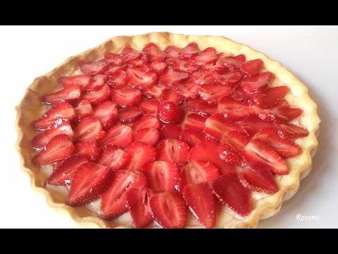 Tarta de fresas con hojaldre y crema pastelera