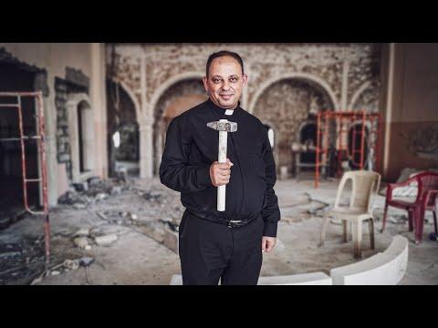 Portrait du père Thabet Habib, Prêtre à Qaramlesh en Irak