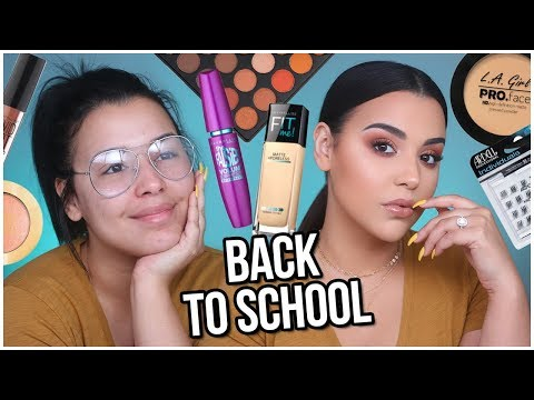 BACK TO SCHOOL Makeup Tutorial using DRUGSTORE PRODUCTS! Quick + Easy 2018! | MakeupByAmarie