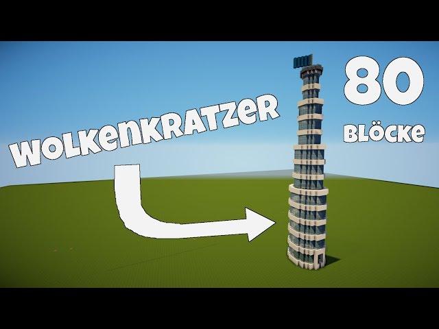 Minecraft Wolkenkratzer Haus Bauen Tutorial Ich Schubse Vitamine Vom - Minecraft moderne hauser bauen tutorial