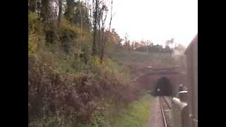 preview picture of video 'Archive Footage: Terrier 672 Fenchurch Storms West Hoathley and Sharpthorne Tunnel | 07/11/2010'