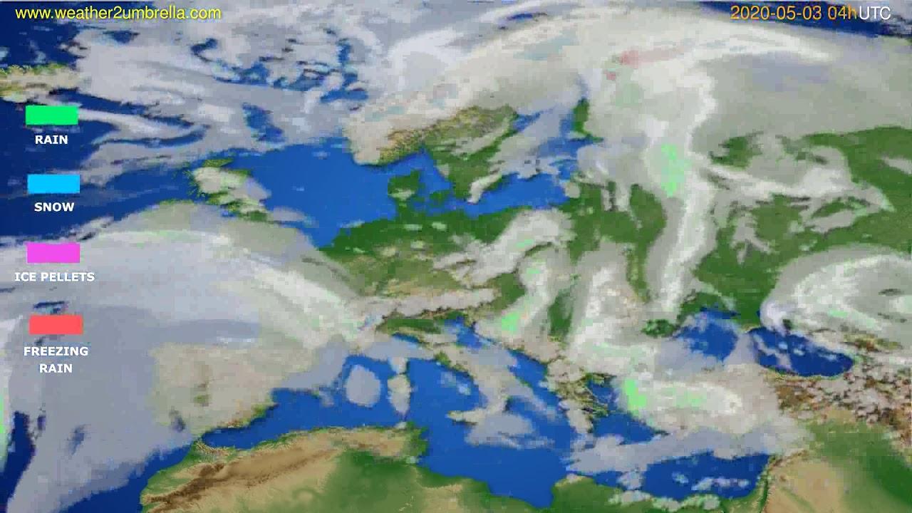 Precipitation forecast Europe // modelrun: 12h UTC 2020-05-02