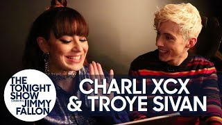 Troye Sivan and Charli XCX Practice Their Telepathy While Naming Puppies