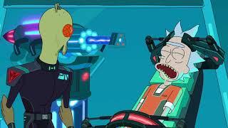Рик и Морти. Рик сбегает из межгалактической тюрьмы и убивает Рик-спецназ.