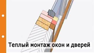 «Теплый» монтаж окон и дверей. Типичные ошибки при «теплом» монтаже