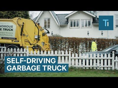 Volvo developed self-driving garbage trucks
