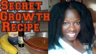 Molasses And Ripe Banana Hair Treatment Deep Conditioner Recipe For Dry Brittle Natural Hair.
