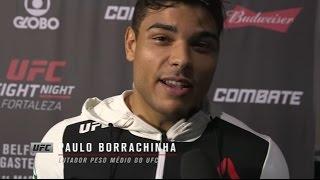 UFC Fortaleza: Entrevista de backstage com Paulo Borrachinha